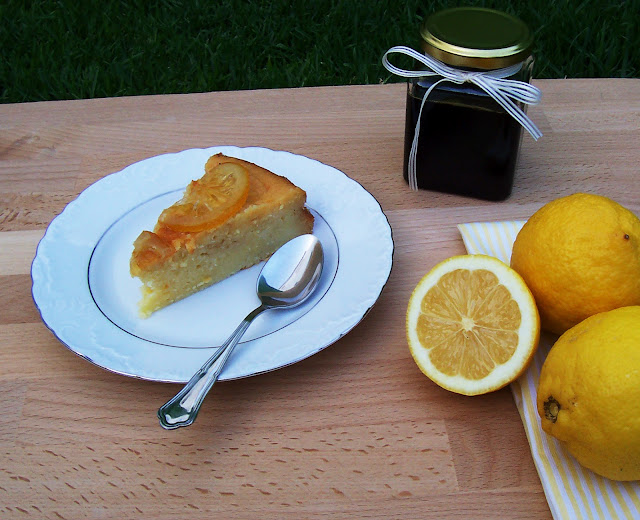 bizcocho, limón, queso batido