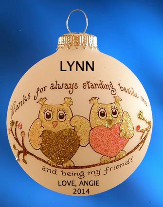 1 Christmas ornament from Ornaments WIth Love Giveaway - Ends Nov. 7th