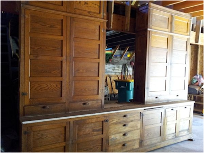 Going dutch colonial style the mystery house for 1920s style kitchen cabinets