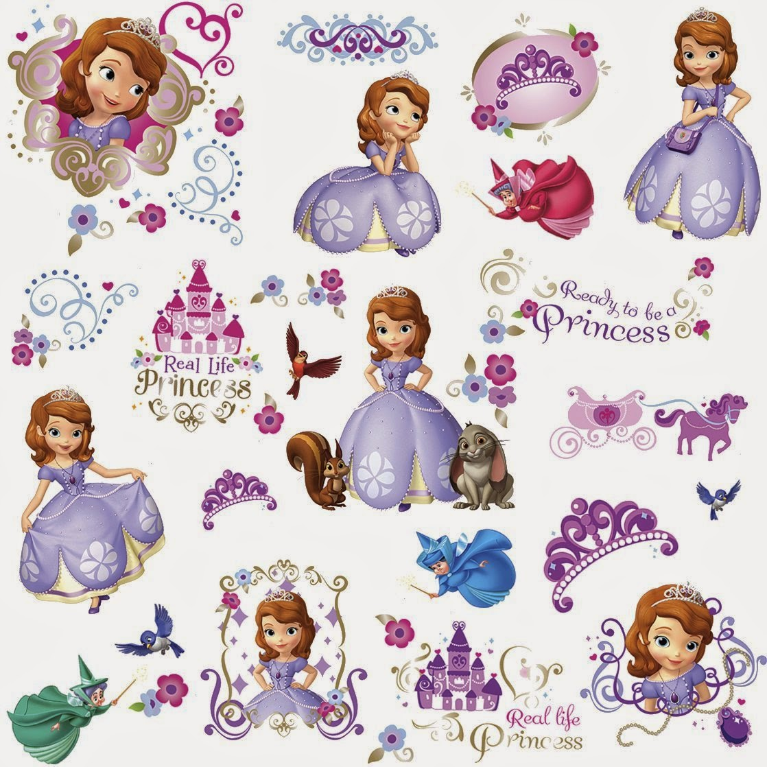 Mums and tots shopping paradise april 2014 disney princess sofia the first peel and stick wall decals 2990 amipublicfo Images