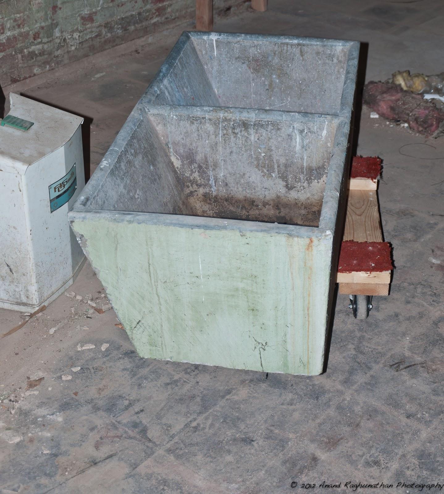 Concrete laundry sink