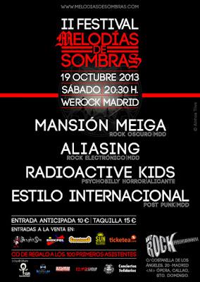 Festival Melodia de sombras 2013 cartel