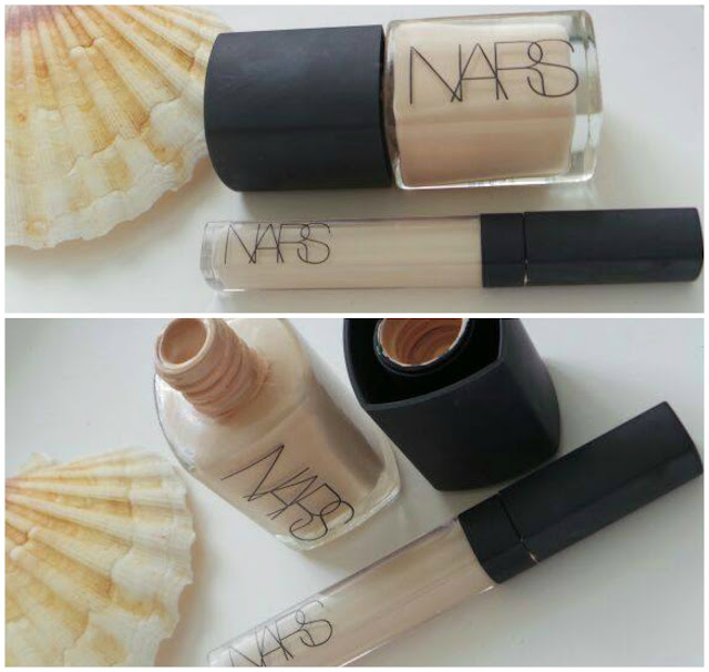 Image of Nars sheer glow foundation and radiant creamy concealer