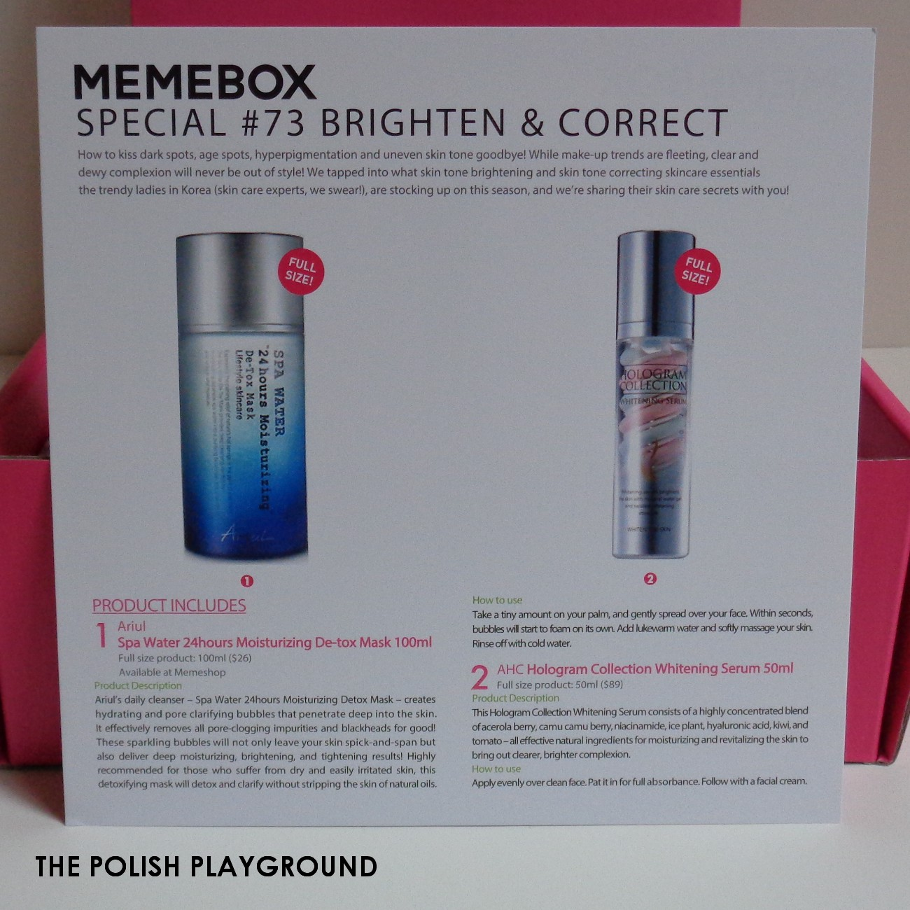 Memebox Special #73 Brighten & Correct Unboxing