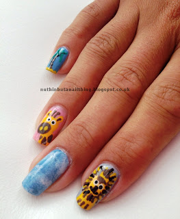madagascar nails nail art penguin hippo giraffe lion lemur