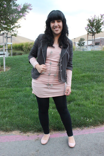 Pink Knit Tunic and Leggings