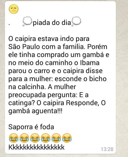 Zoeira Discreta Comédia Whatsapp Grupo Caipira Imagens Engraçadas