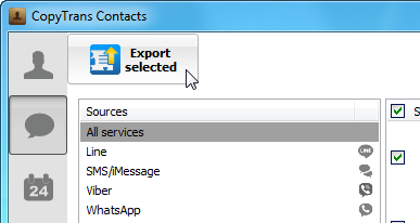 export iphone text messages to pc