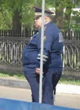 Funny picture fat cop