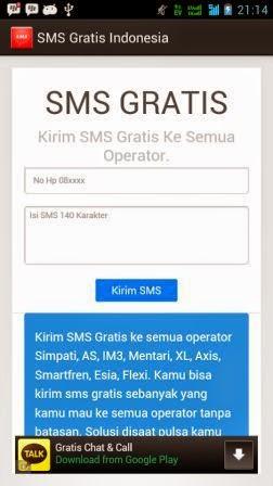 Kirim SMS Gratis di Android