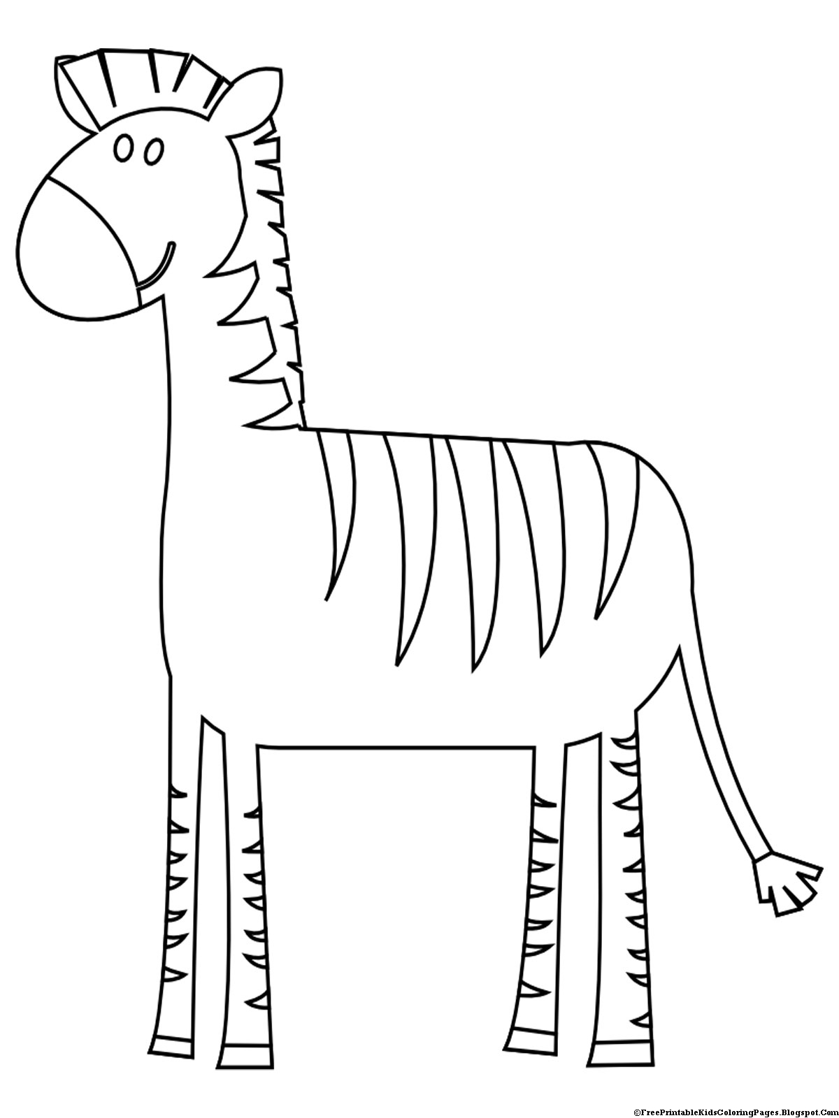 zebra coloring pages without stripes - photo #23