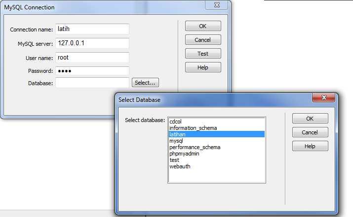 Dreamweaver Tutorial - Membuat Koneksi Database MySQL