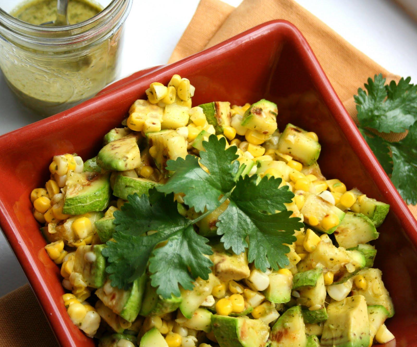 Grilled Zucchini Corn Salad with Cilantro Lime Vinaigrette | All Day I ...