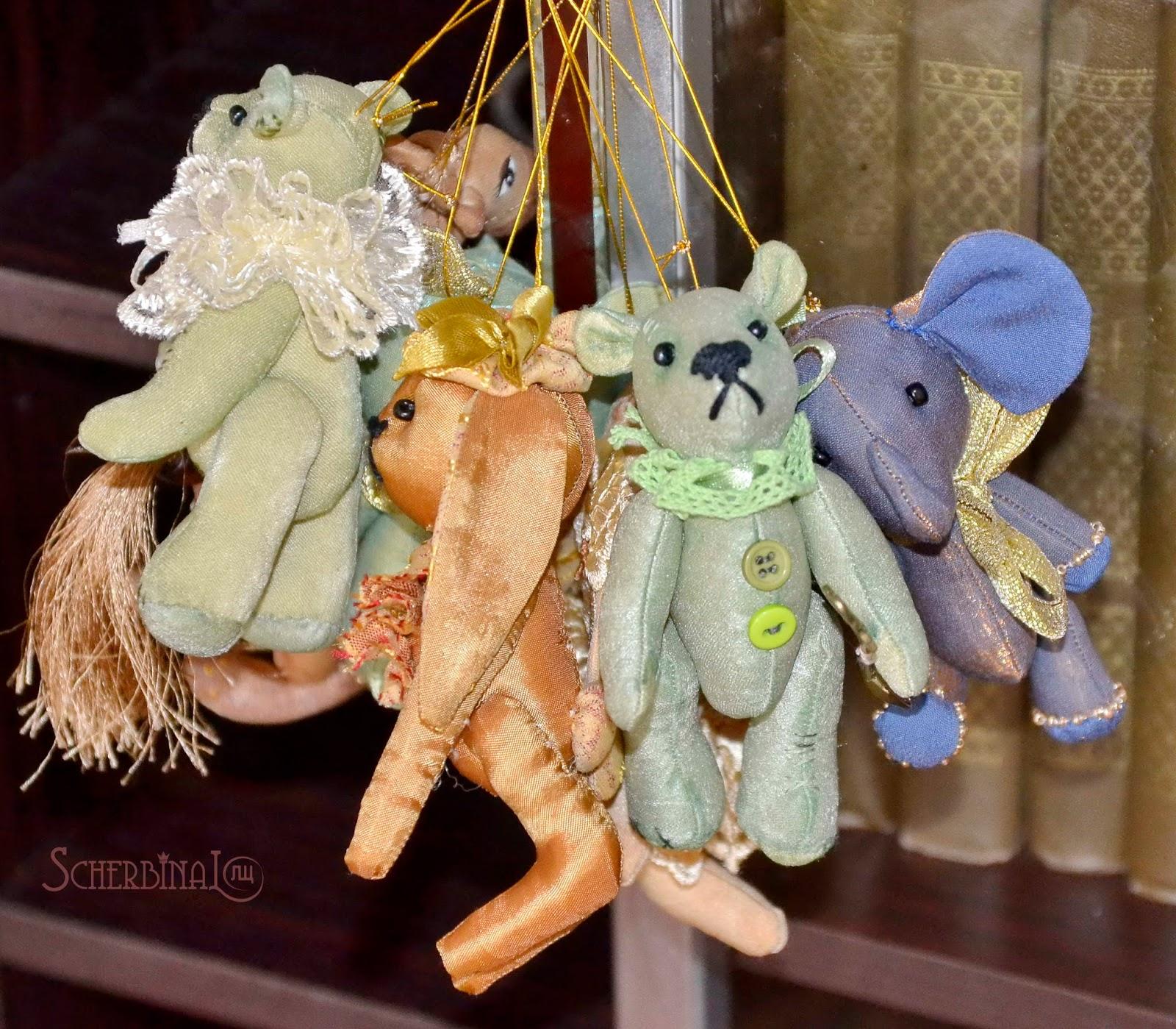 мини игрушки, игрушки на ёлку своими руками