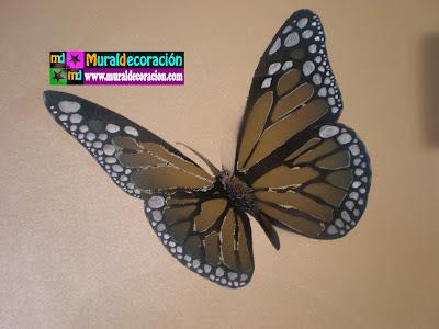Aerografía Mural Mariposa decoración dormitorio