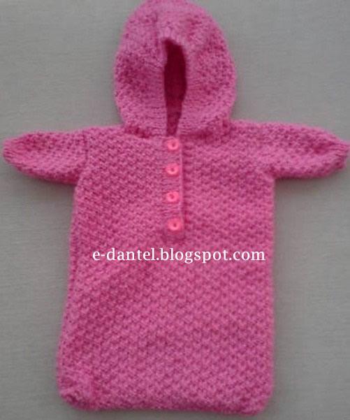 Kapşonlu Bebek Hırka Örneği Ve Yapılışı