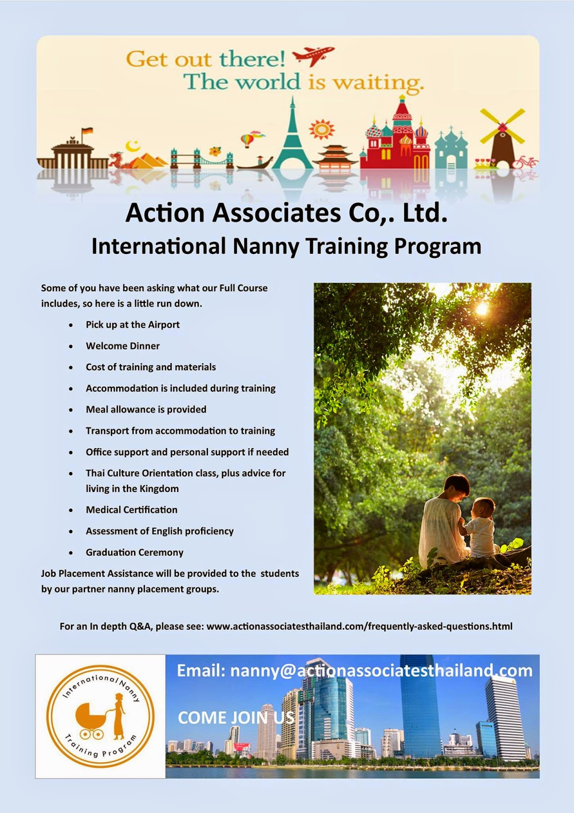 action training thailand if you require any further information either email us or follow the link for more information actionassociatesthailand com nanny training html