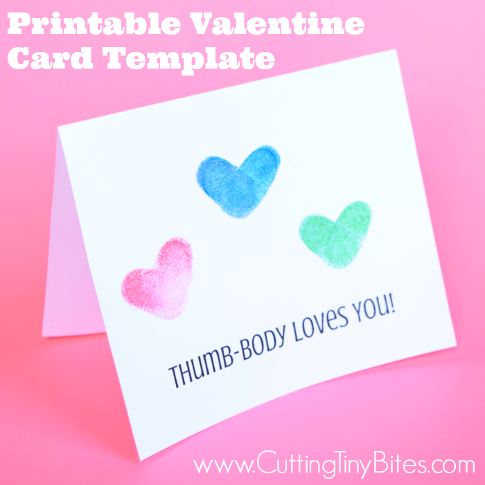 Printable valentine card template thumb body loves you what can printable valentine card template thumb body loves you simple card for toddlers or maxwellsz
