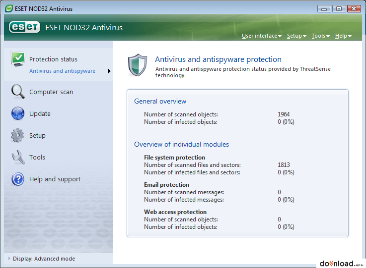 30-day trial of ESET NOD32 Antivirus 5 for free from download.cnet.com