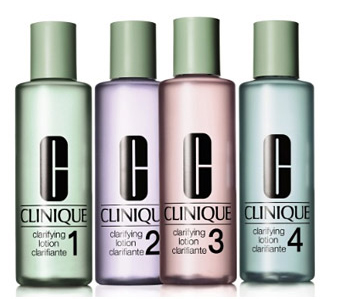 Defaced : Clinique Clarifying Lotions 1,2,3,4 & mild review