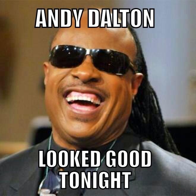 andy%2Bdalton%2Blooked%2Bgood%2Btonight 22 meme internet andy dalton looked good tonight