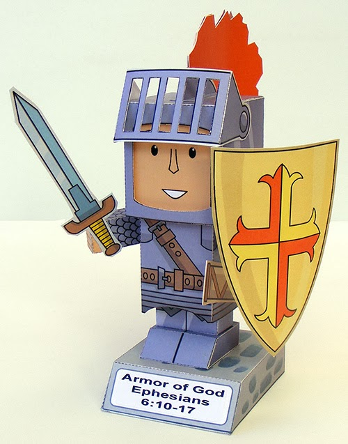 The Armor of God Paper Toy