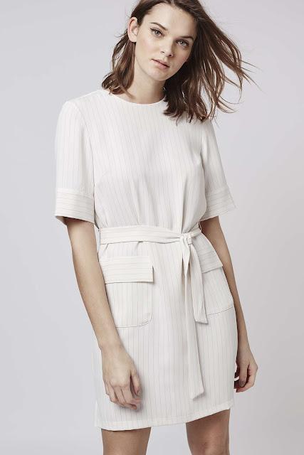 white pinstripe dress, topshop pinstripe dress,