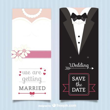 40 plantillas vectorizadas para invitaciones de boda saltaalavista blog