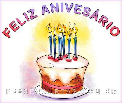 Mensagens curtas de Aniversario - Frases de Parabéns pra Você