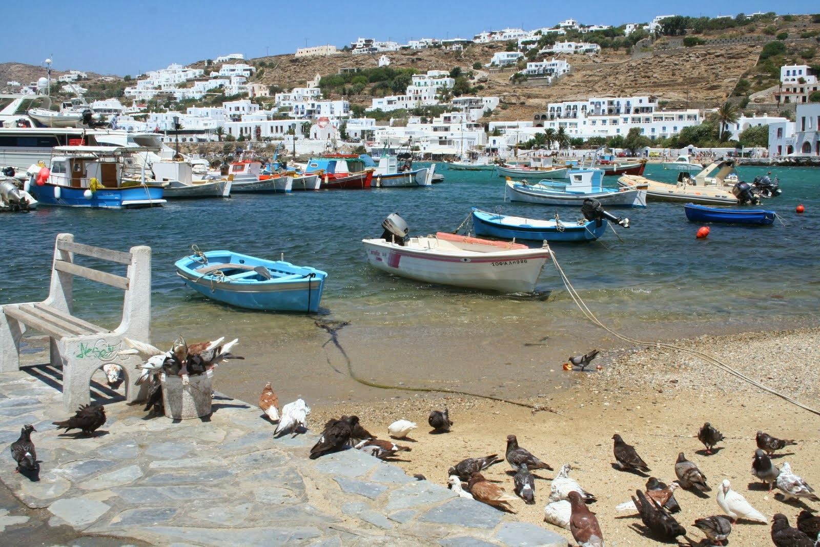 The harbor in Mykonos, Greece.  This is one of my favorite spots in the world...