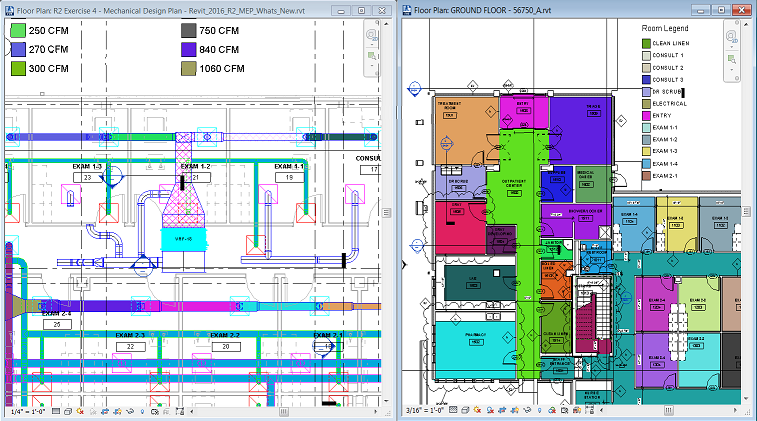 Revit Room Colour Over Curtain Wall