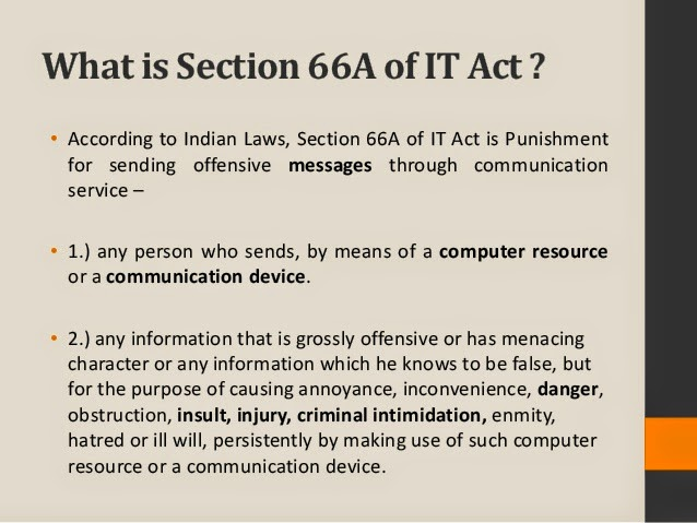 IT Act 66A , Social Media and Fundamental Rights
