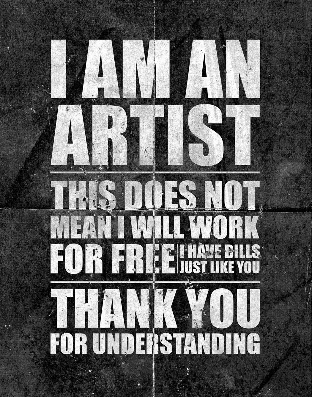 I am an artis