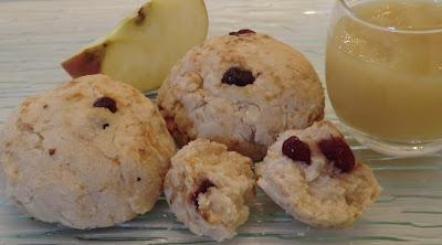 Petits pains express à la compote de pommes et cranberries sans gluten