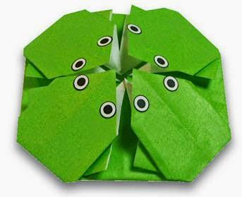 origami frog kids