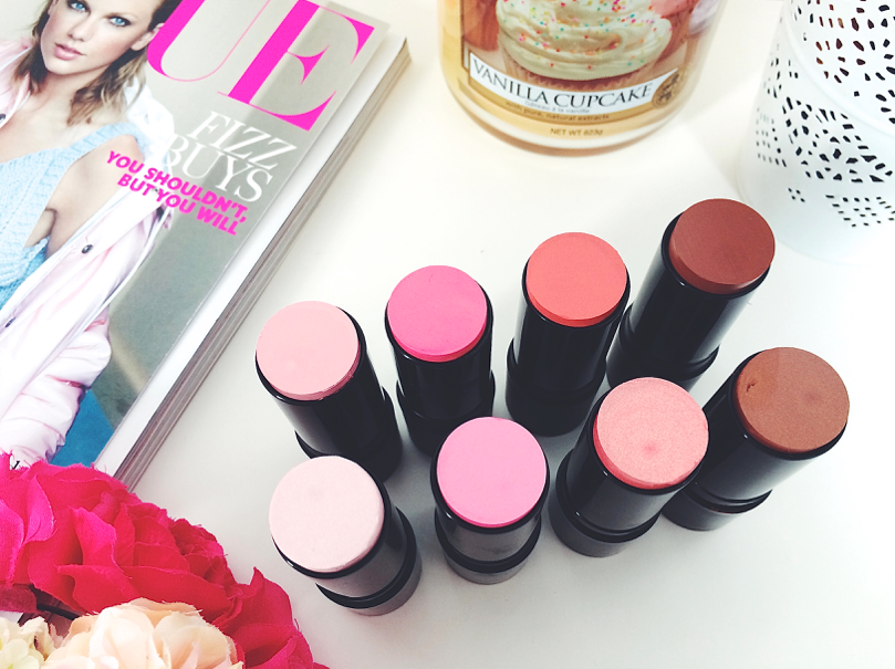 uk beauty blogger, swatch, review, makeup revolution, makeup revolution the one blush sticks, makeup, beauty,