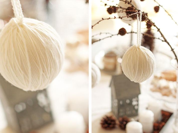 Amalie loves Denmark Weihnachtskugeln aus Wollresten