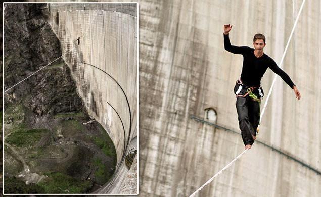 Julian Mittermaier Jalan Atas Tali Setinggi 199 Meter Tanpa Alat Keselamatan