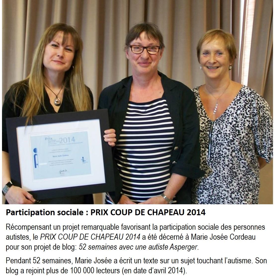 Prix Coup de Chapeau 2014