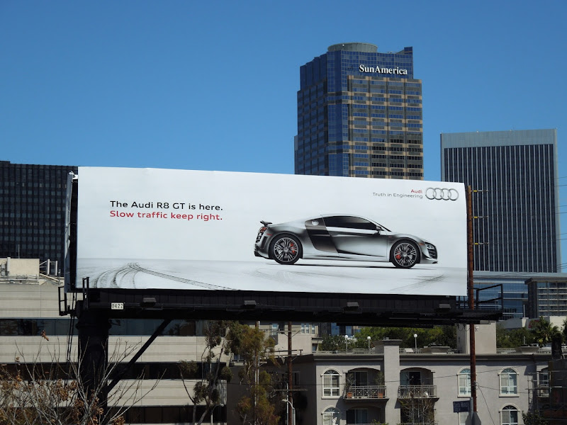 Audi R8 GT car billboard