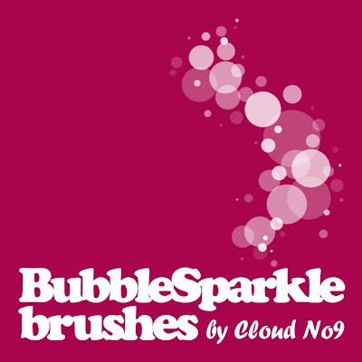 descargar pinceles para photoshop de burbujas