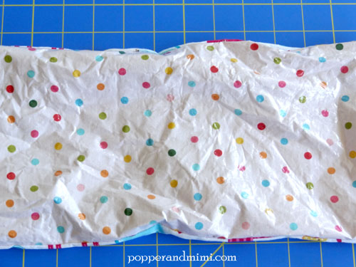 Reusable Fabric Sandwich Bag iron out wrinkles | popperandmimi.com
