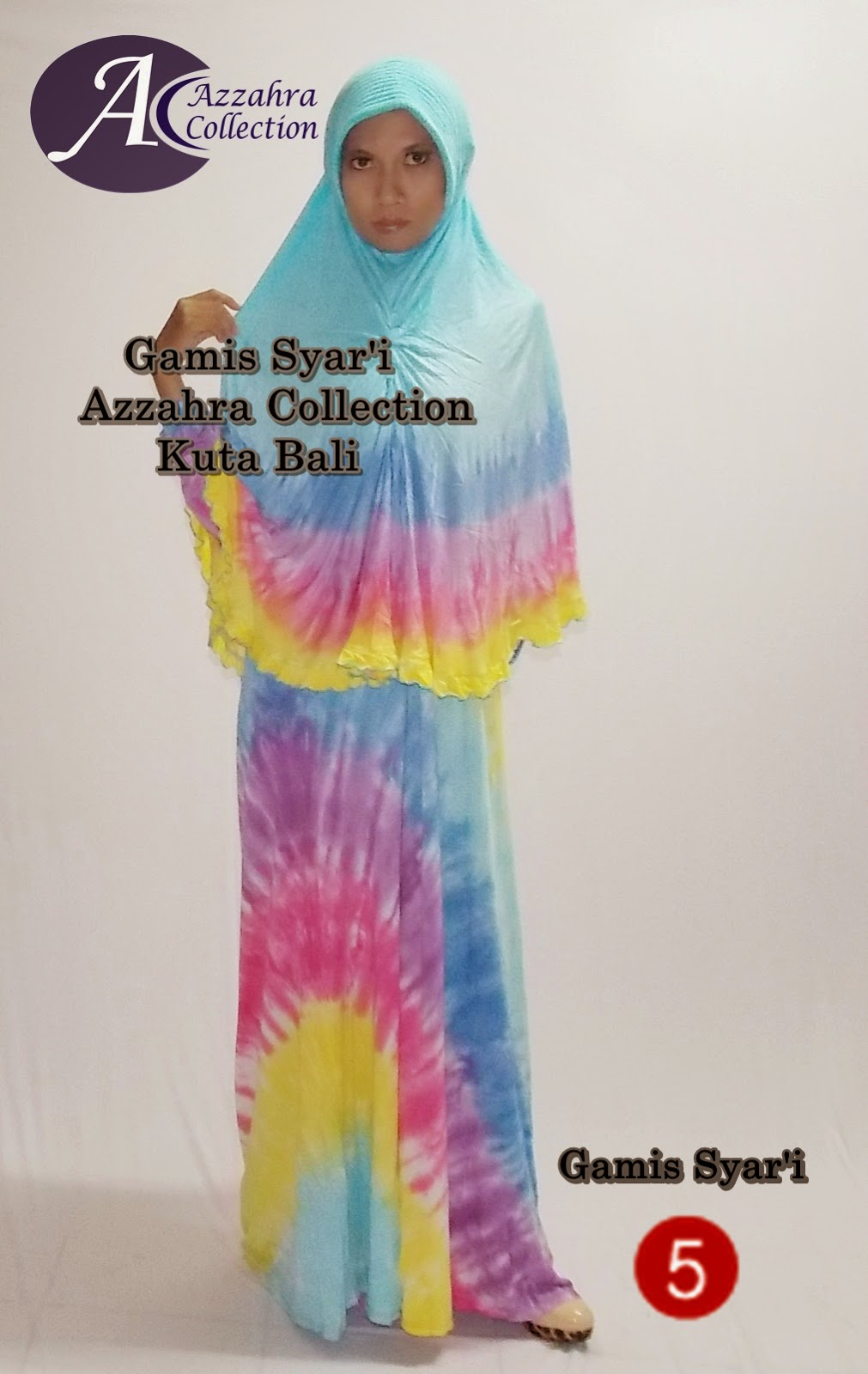 Gamis Syar'i full Tie-dye