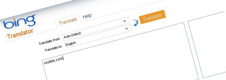 bing translator rooteto Dünyanın en iyi çeviri siteleri Google ve Bing Translate