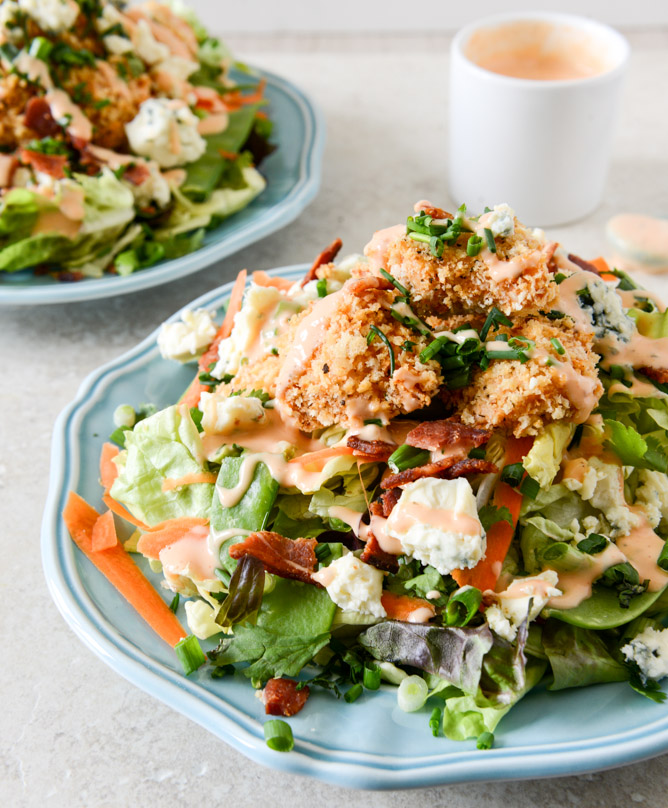 ... * by Dori: Crunchy Buffalo Chicken Salad with Bacon and Spicy Ranch