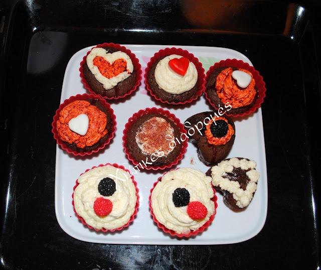 Τα πιο σοκολατένια κεκάκια για  την ημέρα του Αγ. Βαλεντίνου