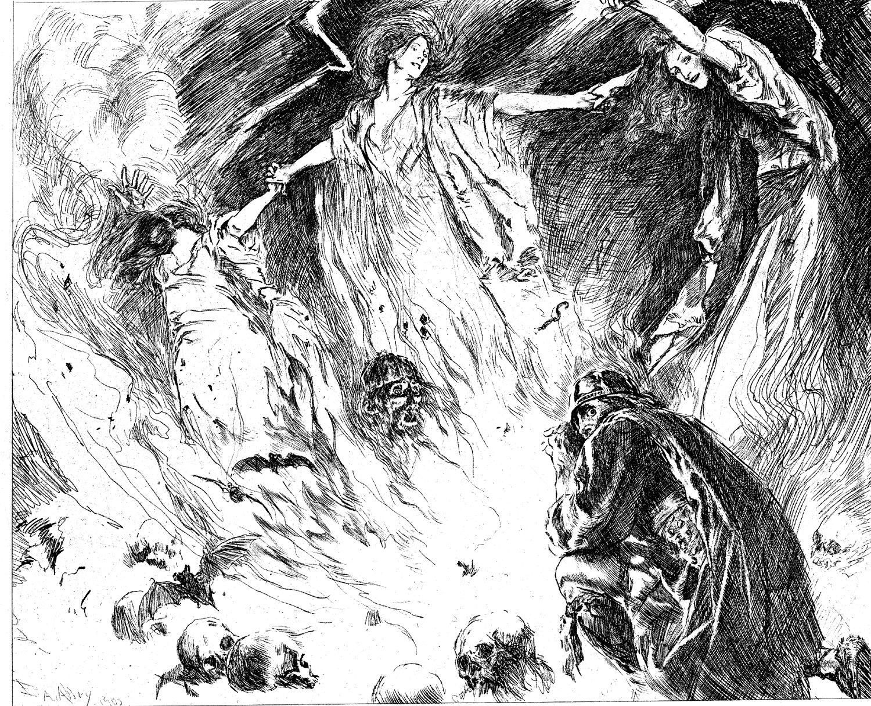 Dibujo: ¿Línea y contraste?: Edwin Austin Abbey - Macbeth and the ...