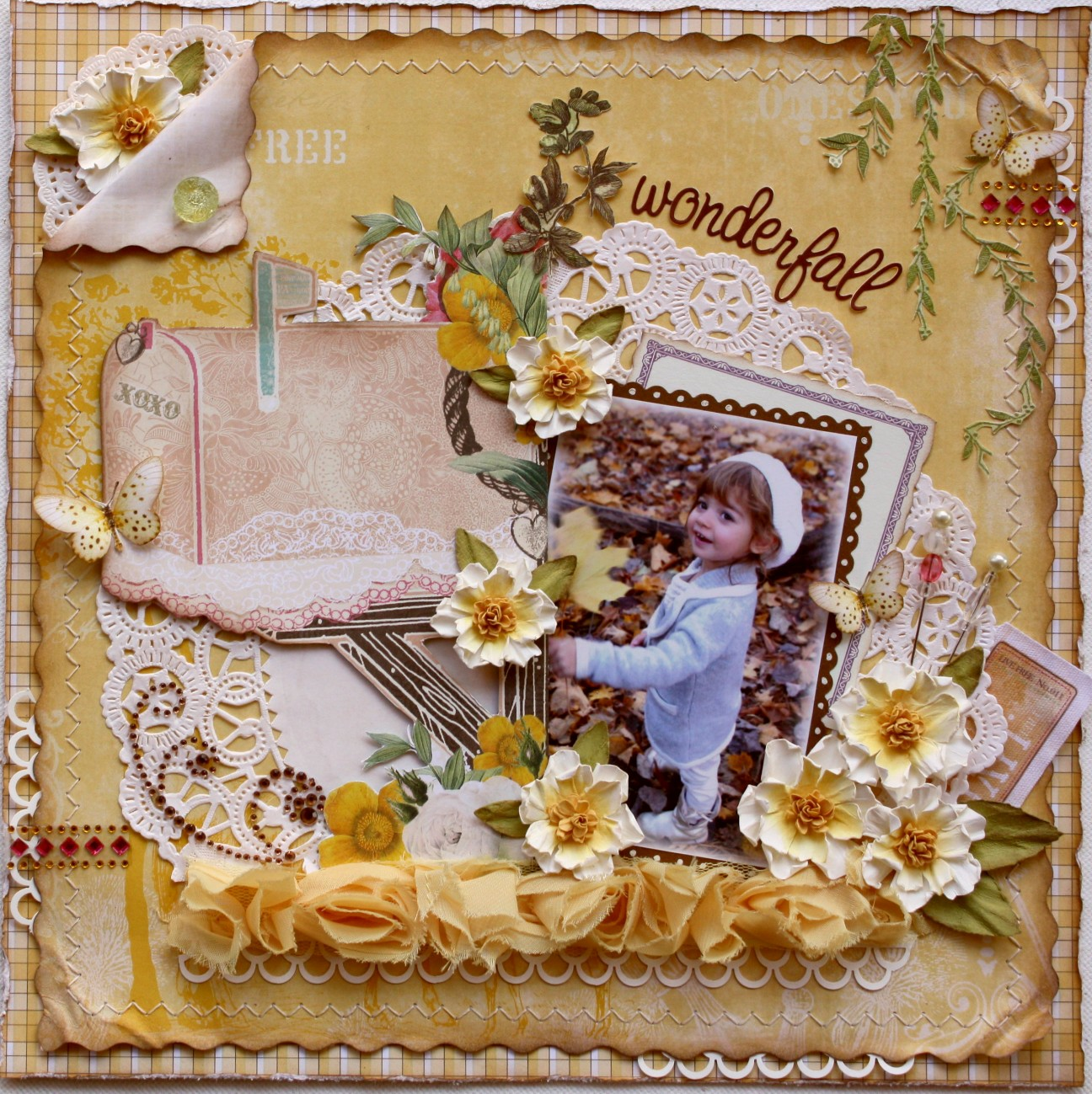 Scrapbook ideas with flowers - Paper Flower Tutorial Websters Pages Glue Arts