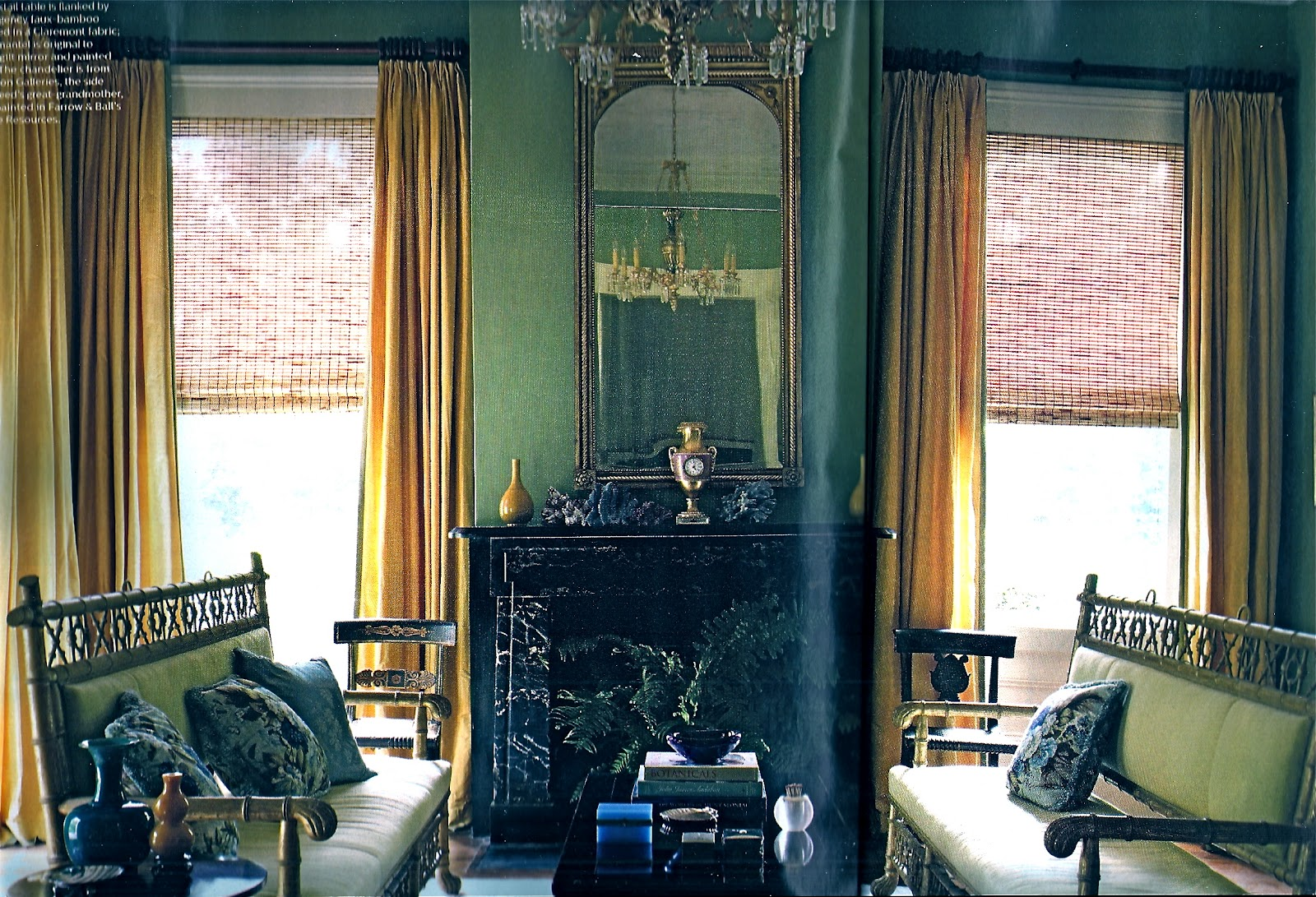 the house on first street in the september issue of elle decor