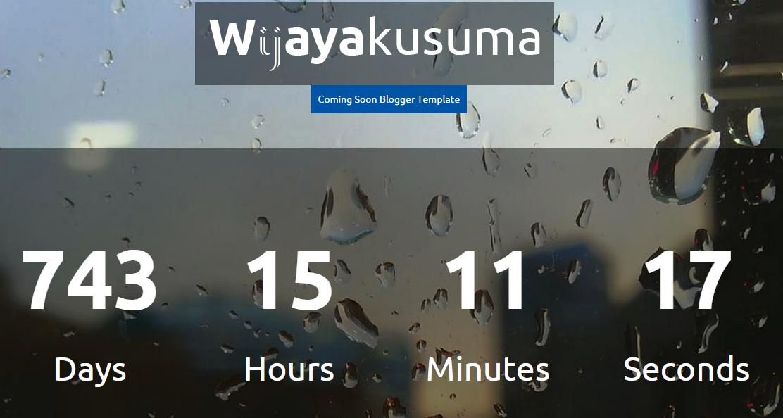 Download Wijayakusuma Responsive Coming Soon Blogger Template